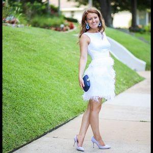 Sail to Sable white feather dress